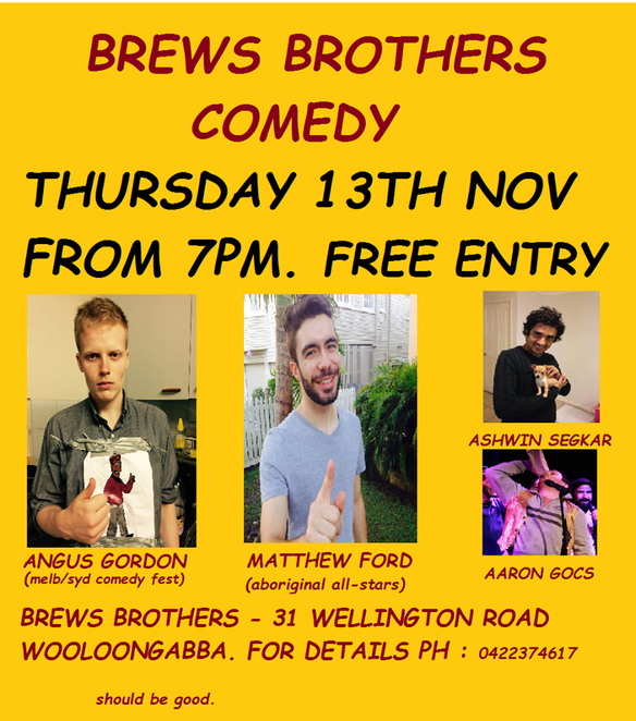 Brews Brothers Microbrewery Comedy Night Wooloongabba