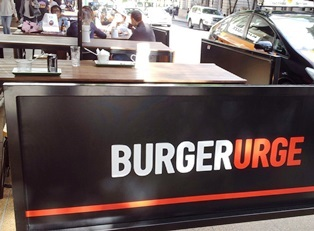 burger urge, burgers, sign, alfresco