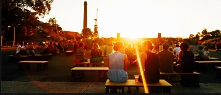 Campfire sessions on Cockatoo island, sydney harbour, live music, summer, affordable, romantic, chilled, acoustic