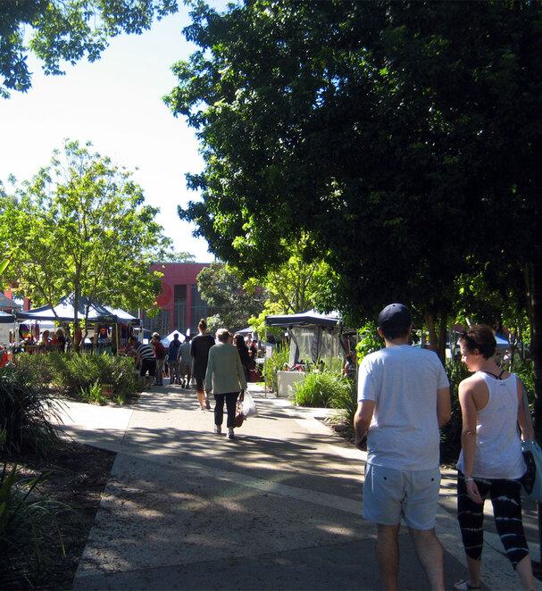 The leafy Carseldine Government Precinct hosts the markets on Saturday mornings