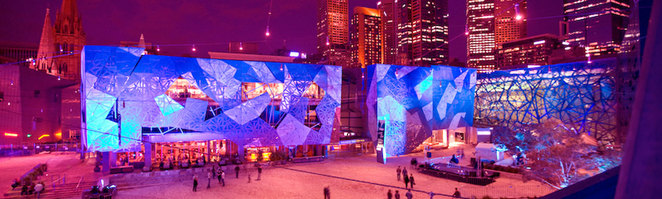christmas projections fed square melbourne