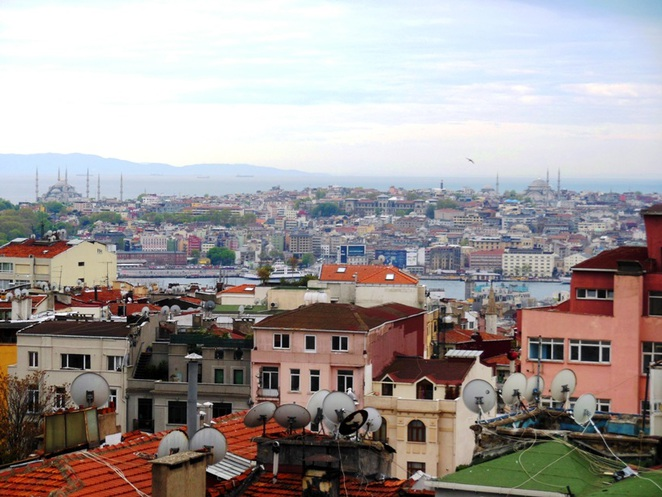 View of Istanbul Old City from Taksim