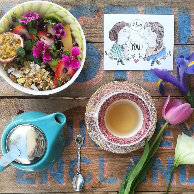 Flora and Fauna, bircher museli, breakfast