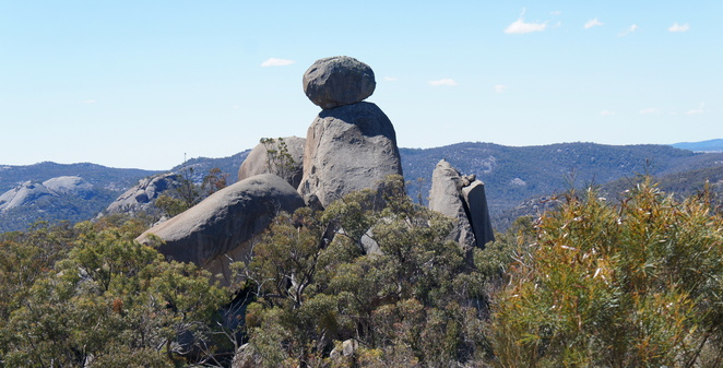 One of many formations of boulders in Girraween National Park near Stanthorpe