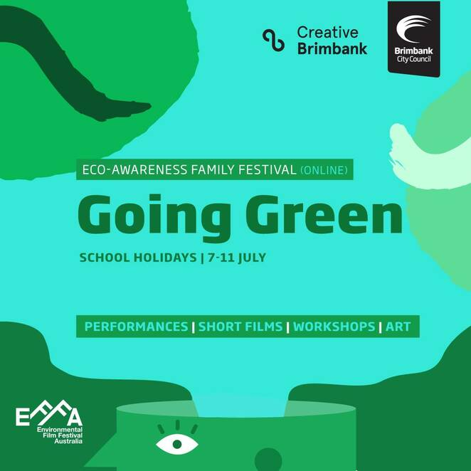 going green 2020 school holiday festival, eco-awareness family festival online 2020, community event, fun things to do, fun for kids, family fun, performances, short films, workshops, art, creative brimbank, environmental film festival ausstralia 2020, online school holiday festival event, the owl's apprentice, little wing puppets, lovely and lonely species workshop, she danced and sang exhibition, melanie obst