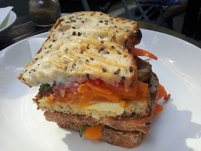 Gypsy Espresso Cafe Coffee Potts Point roast pumpkin linseed sourdough sandwich