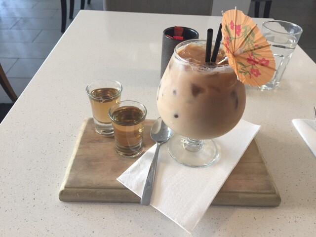 iced coffee, iced latte, lunch, breakfast, vanilla, flute, coorparoo, cavendish rd