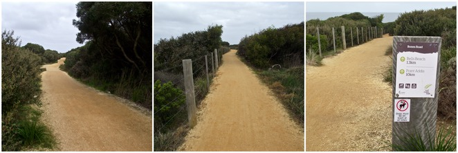 Jan Juc, Bells Beach, Surf Coast Walk, Walking Track, Unsealed, gravel,