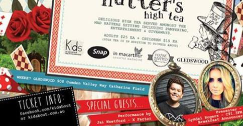 Kids Day Out, Kid About, Mad Hatters High Tea, Down the Rabbit Hole