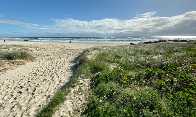 There is direct access to beautiful Tugun Beach from Len Wort Park