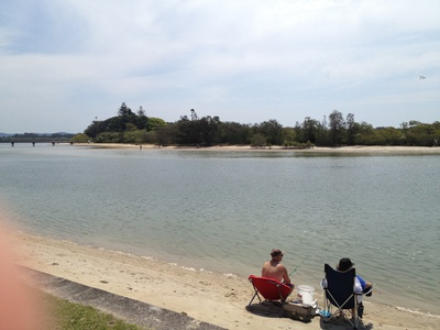 Looking out over Chambers Island and the Maroochy River