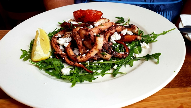 Manly, Greek, octopus, lunch, seafood