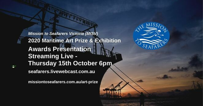 maritime online art prize awards 2020, maritime art exhibition online 2020, the mission to seafarers victoria, community event, fun thigns to do, artists, competition, fundraiser, charity, purchase art, art for sale, paintings, docklands, heritage listed mission b uilding
