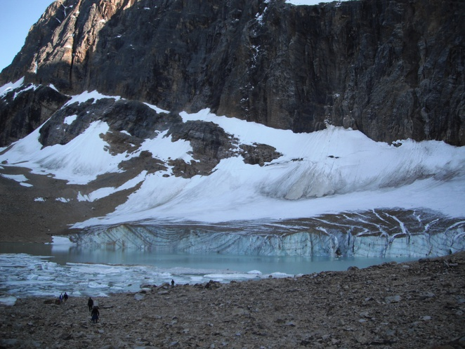 meltwater pond, Mt Edith Cavell