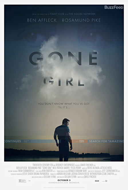 movie, gone girl, movie review, film review, ben affleck, rosamund pike
