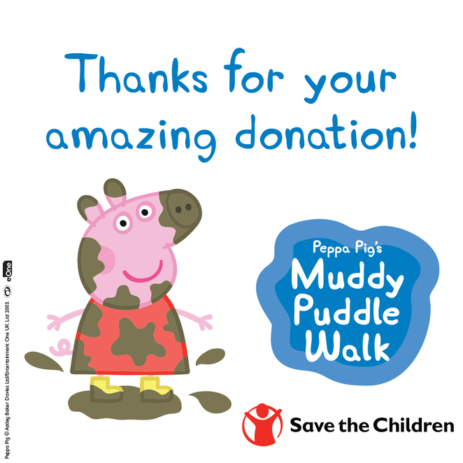 muddy puddle walk 2018, community event, fun things to do, donations, fundraiser, charity, save the children, fun walks, health and exercise, jump in muddy puddles, fun activities, peppa pig muddy puddle walk