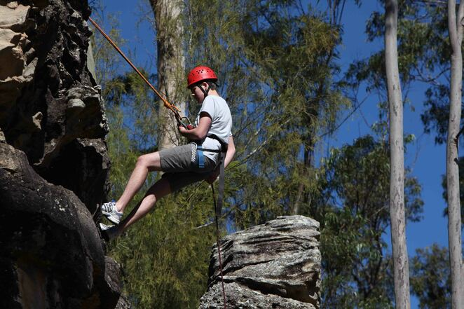 Abseiling at Murphy's Creek Escape