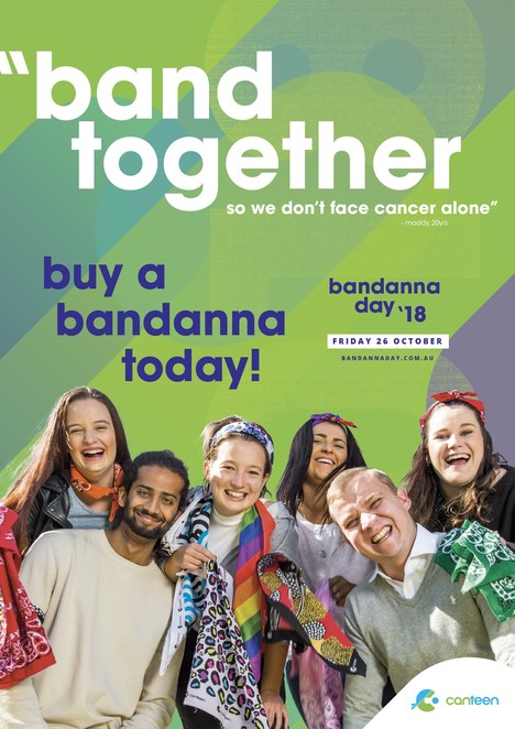 national bandanna day 2018, community event, fun things to do, fundraiser, charity, conquer cancer, band together, health and fitness, cancer research, order a bandanna, fashion, headwear, local hero, impact of cancer, young people with cancer