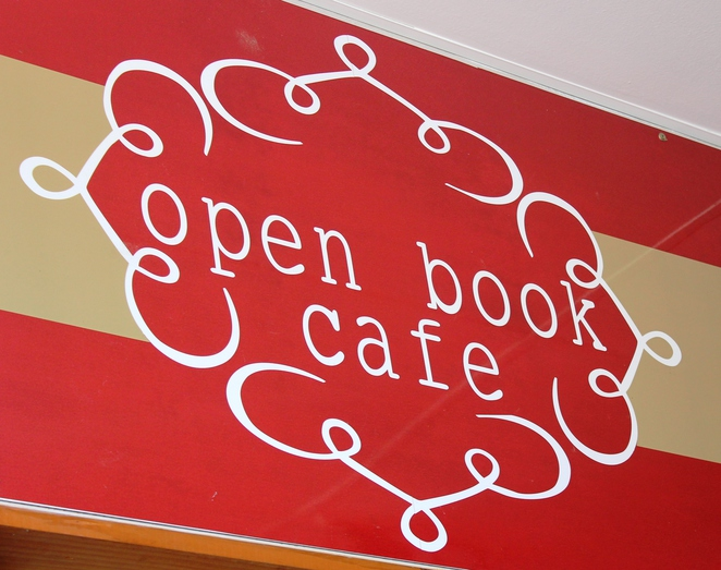 Open Book Cafe, sign