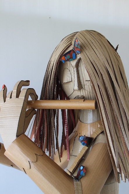 recycled cardboard art, Terry Summers, Redcliffe,