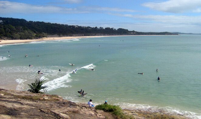 Cylinder Beach is a great place to swim on North Stradbroke Island