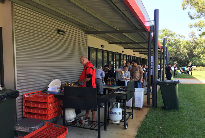 Scroungers Winter Garage Sale 2017 snagger and gourmet coffee