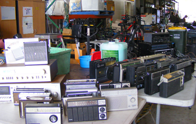 For the retro fan, they have old radios and tape players for sale