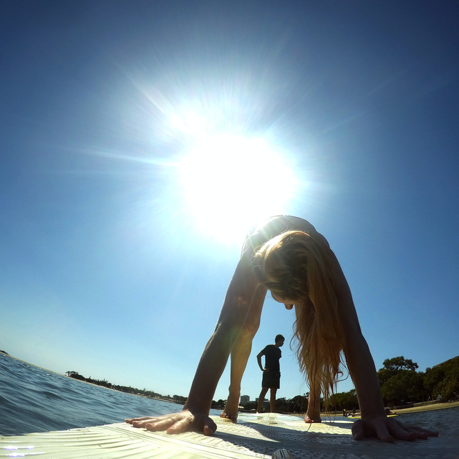 SUP, Yoga, Stand Up Paddleboard, Exercise, Fitness, Date, Romance, Love