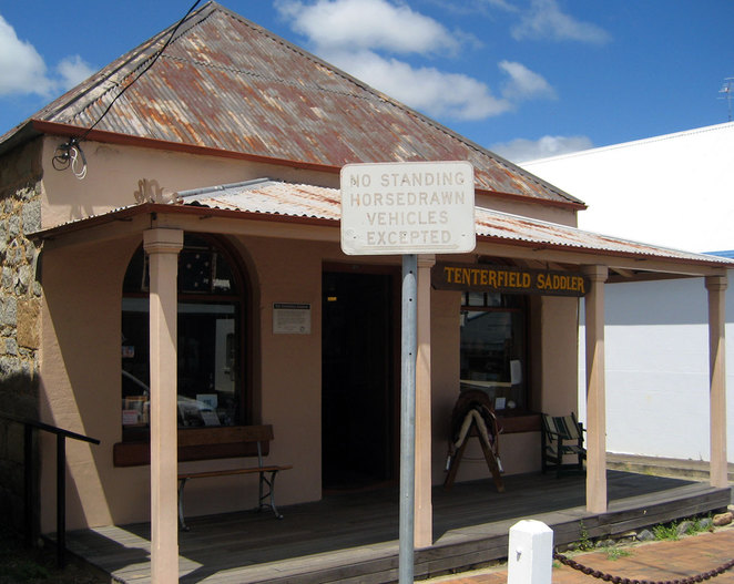 The famous Tenterfield Saddler. Wish I had rode my horse into town just so I could hitch it up here.