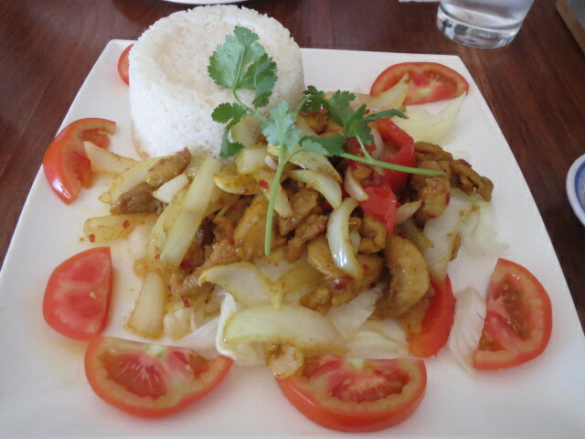 Thanh Viet Restaurant, Lemongrass and Chilli Chicken with Rice, Adelaide