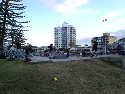 The Alexandra Headland Skate Park is popular with local kids