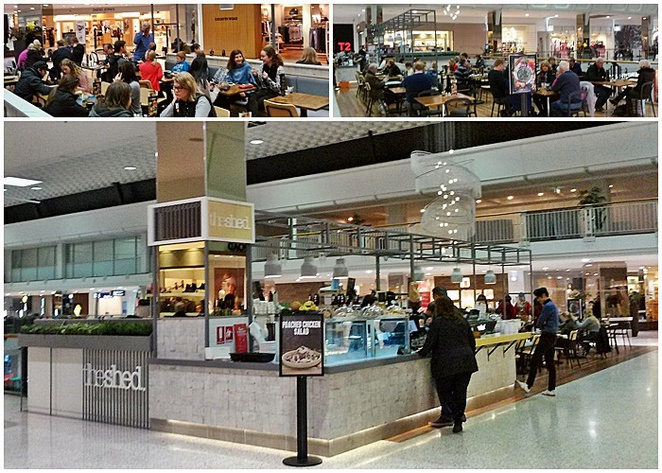 the shed, canberra, woden, ACT, coffee, breakfast, lunch, westfield, shopping centre