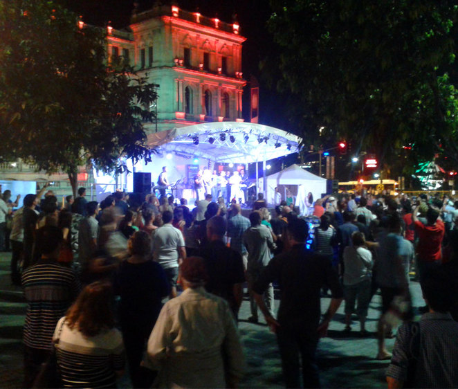 A free concert at Brisbane Square