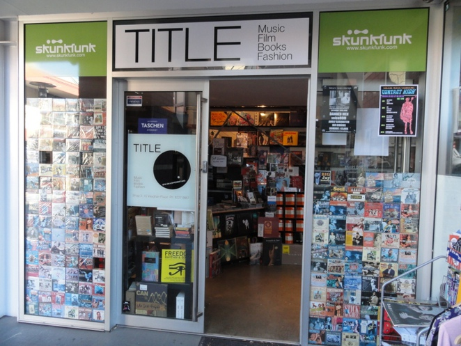 Title-shop, Music, Film, Books, Vinyl records, CD's, DVD's,Title Vaughan Place Adelaide, vintage clothing, retro clothing, second-hand clothing.