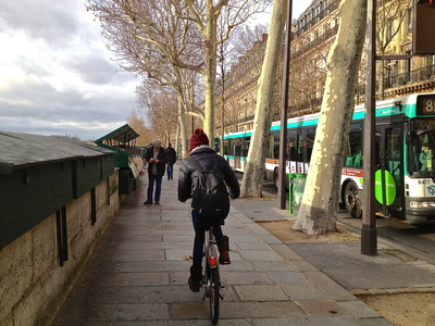 Velib cycling on the Left Bank, Paris (c) JP Mundy