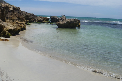 Watermans, Bay, Beach, Secluded, Perth, Sandy, White