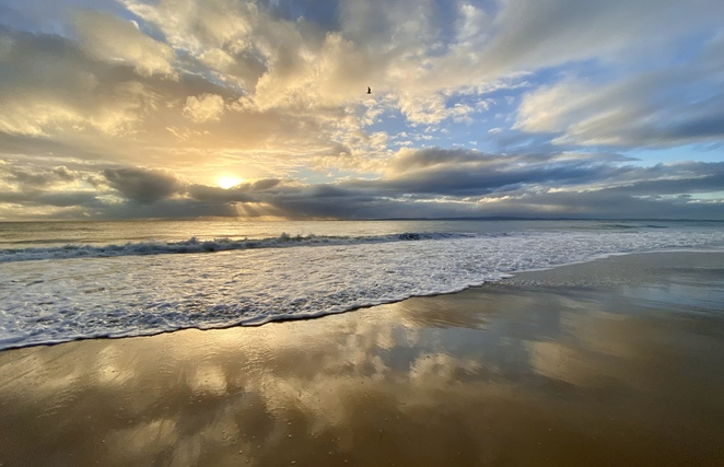 Woorim Surf Beach provides a long, tranquil space for people across South East Queensland to relax or have a swim