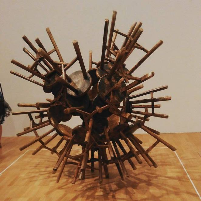 Ai WeiWei 'Grapes' put together with Qing Dynasty wooden stools