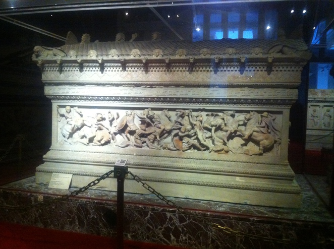 alexander, great, sarcophagus, istanbul, museum, archaeology