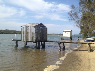 An old private jetty by the side of the river on Bradman Ave