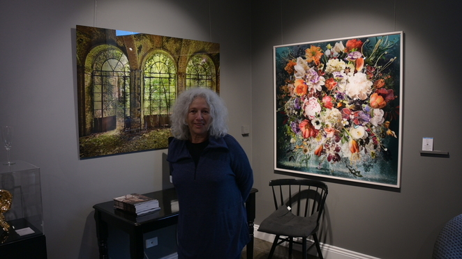 Art Collector who had her own gallery at VIP night