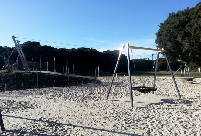 Barwon Heads Village Park, Pirate Park, Swing, flying fox