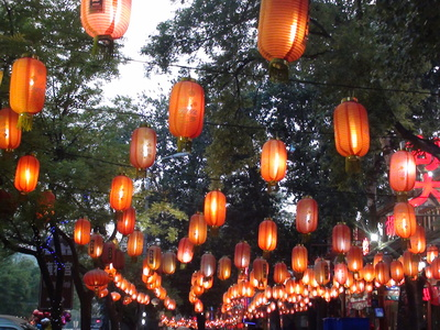 Beijing,Ghost Street,Eating,Restaurants,Lanterns,Food
