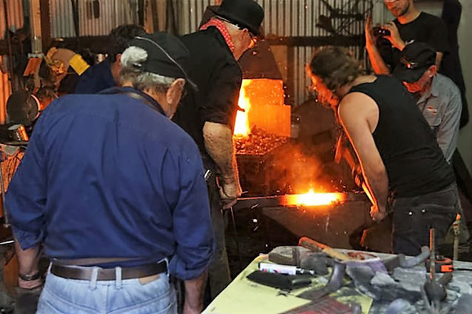 Blacksmith Bash at the South West Rail and Heritage Centre. Photo Courtesy the SWRHC collection.
