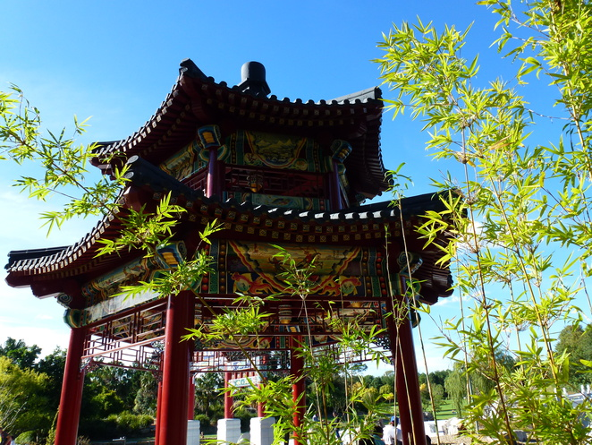 The pavilion at Chang Lai Yuan Chinese Garden @ Nurragingy Reserve, Doonside