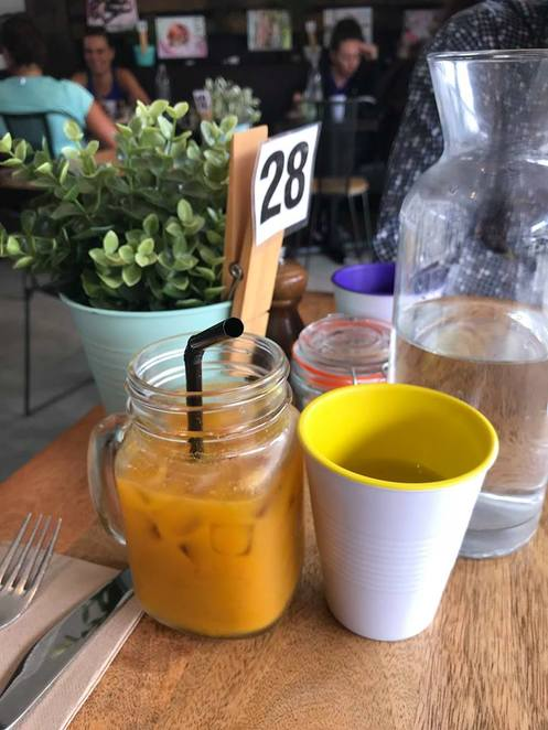 cup & cook, kyle bay, cafe, roger rabbit, juice, orange, ginger, lemon, tumeric, carrot, drink