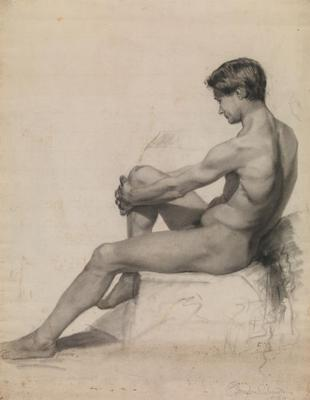 C. Douglas Richardson male nude sketch