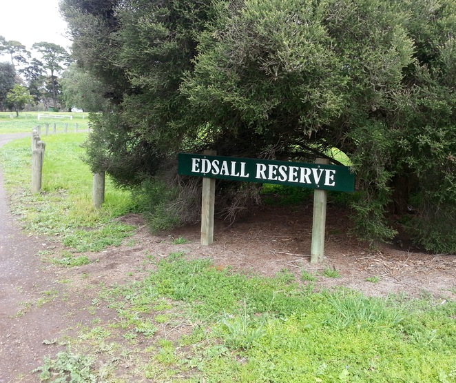 Edsall Reserve, Wallington, Bellarine Peninsula, Sign