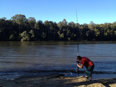 Fishing by the Noosa River
