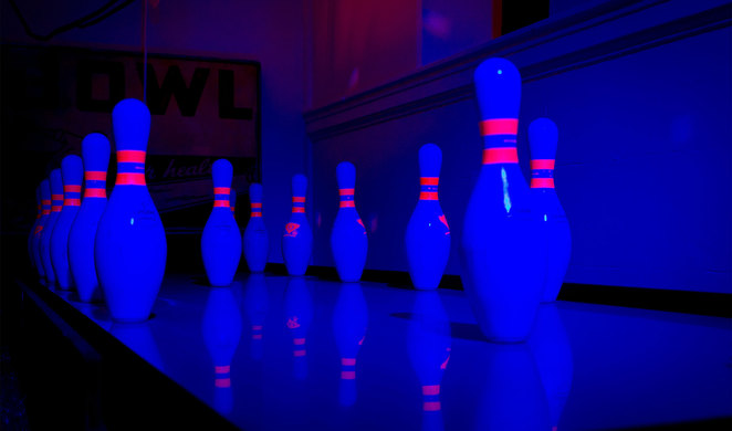 A bowling alley themed hole at Holey Moley (Photo Courtesy of Pinkie Laine hellopinkie.com